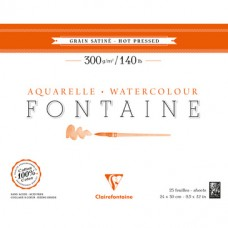 Papier Clairefontaine Fontaine Hot Pressed biały 300g - blok