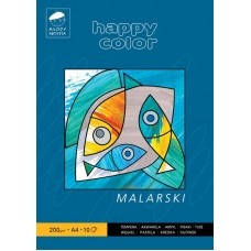 BLOK MALARSKI UNIWERSALNY HAPPY COLOR A4